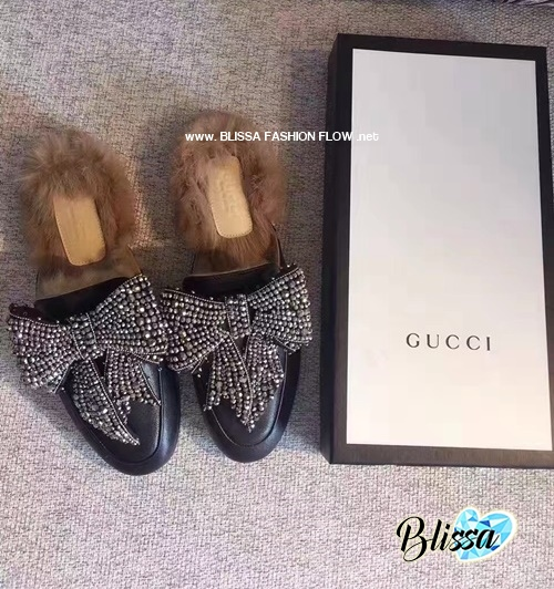 9291fb35708d GUCCI PRINCETOWN BOW FUR-LINED MULE